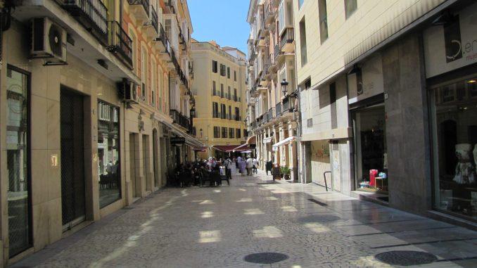 Narrow streets in Malaga