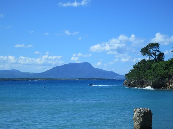 Mount Isabella in the background from Sosua beach
