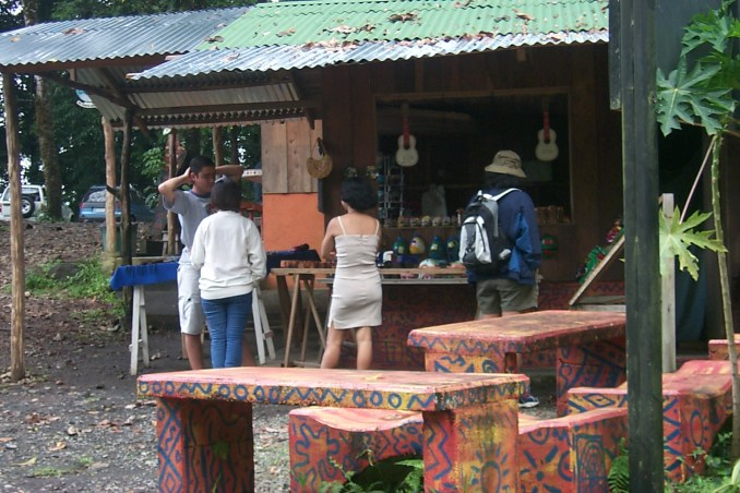 Snack bar at ourdoor centre in Costa Rica