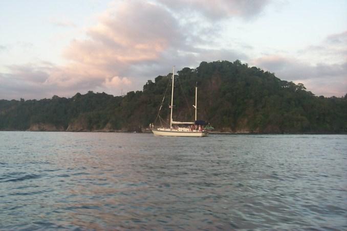 Sailboat near Manuel Antonio
