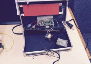 Ahmed 's clock in suitcase