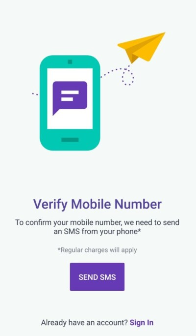 Your mobile number is linked with the UPI app