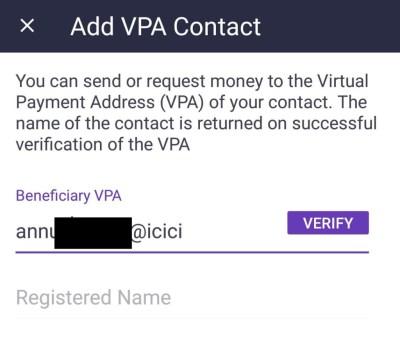 Add a VPA contact