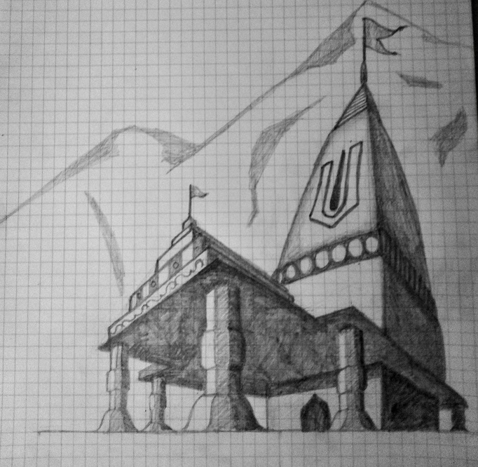 A sketch of a temple