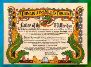 Golden Dragon Certificate
