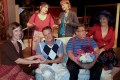 """Elizabeth Armstrong (front from left), Brian Wales, Len Hedges-Goettl, Barbara Hedges-Goettl; back row: Julianne Marcus and Anne Wales pause during rehearsal get into their characters. The six of them make up the entire cast for the Lakeland Players' production of """"Sex Please, We're Sixty,"""" the musical."""