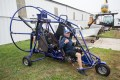 Terry Cooper takes a break in his powered parachute at the Friends of the East Troy Airport's annual open house and pancake breakfast on Sunday morning. (Photo by Randy Timms)