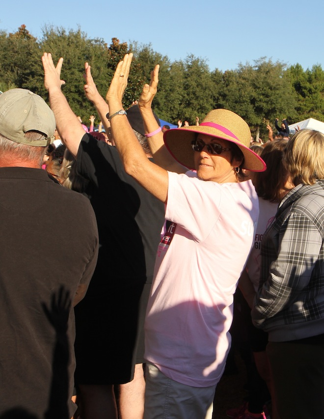 Patricia Kehl (in pink), formerly of East Troy, participates in a cancer walk at Panama City Beach in 2014. Kehl died of triple negative breast cancer May 30. (Submitted photo)