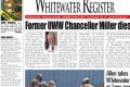 In this week's Whitewater Register …