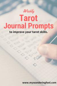 weekly Tarot Prompts
