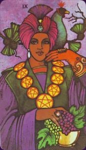 Nine of pentacles - enjoyment of successes