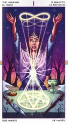 The Magician - connected to spiritual and physical plane, manifesting plans