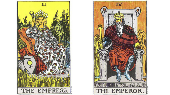 A Tarot Spread to Consult with the Empress and the Emperor
