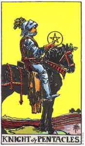 Knight of Pentacles RIder Waite MyWanderingFool Tarot