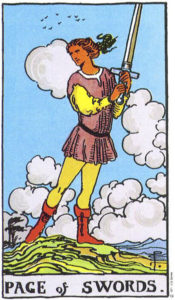 Page of Swords Rider Waite MyWanderingFool Tarot