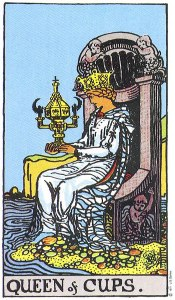 The Queen of Cups Rider Waite MyWanderingFool Tarot