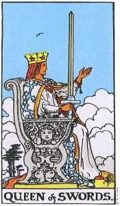 The Queen of Swords Rider Waite My WanderingFool Tarot