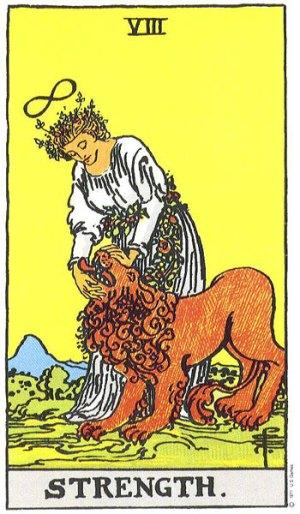 Stength Tarot Card Major Arcana 8