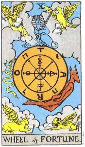 The Wheel of Fortune Tarot Card Major Arcana
