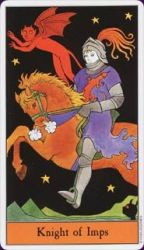 Halloween Tarot Deck Knight of Imps