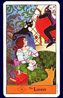 Halloween Tarot Deck the lovers