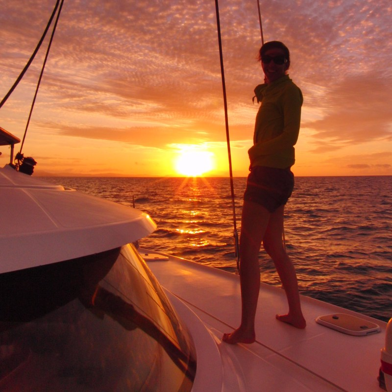 zonsondergang Whitsundays zeilen Great Barrier Reef Australië