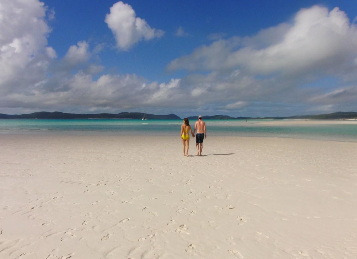 Australië; romantisch over het strand