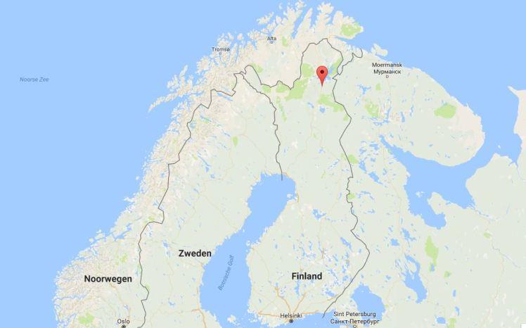 Ivalo; bijna het meest noordelijke punt van onze reis