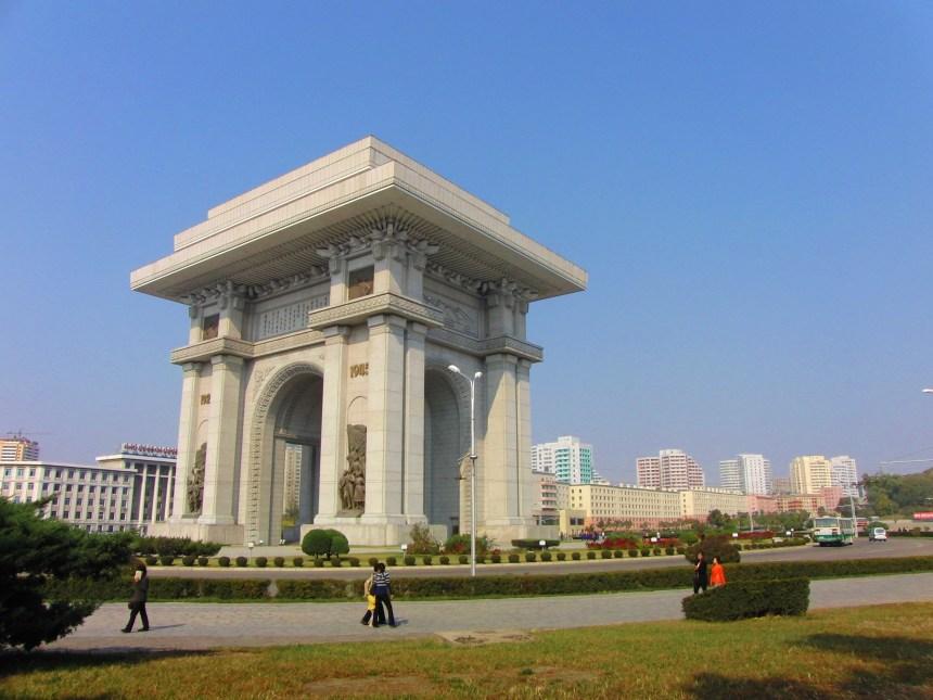 Arc de Triomph van Pyongyang Noord-Korea