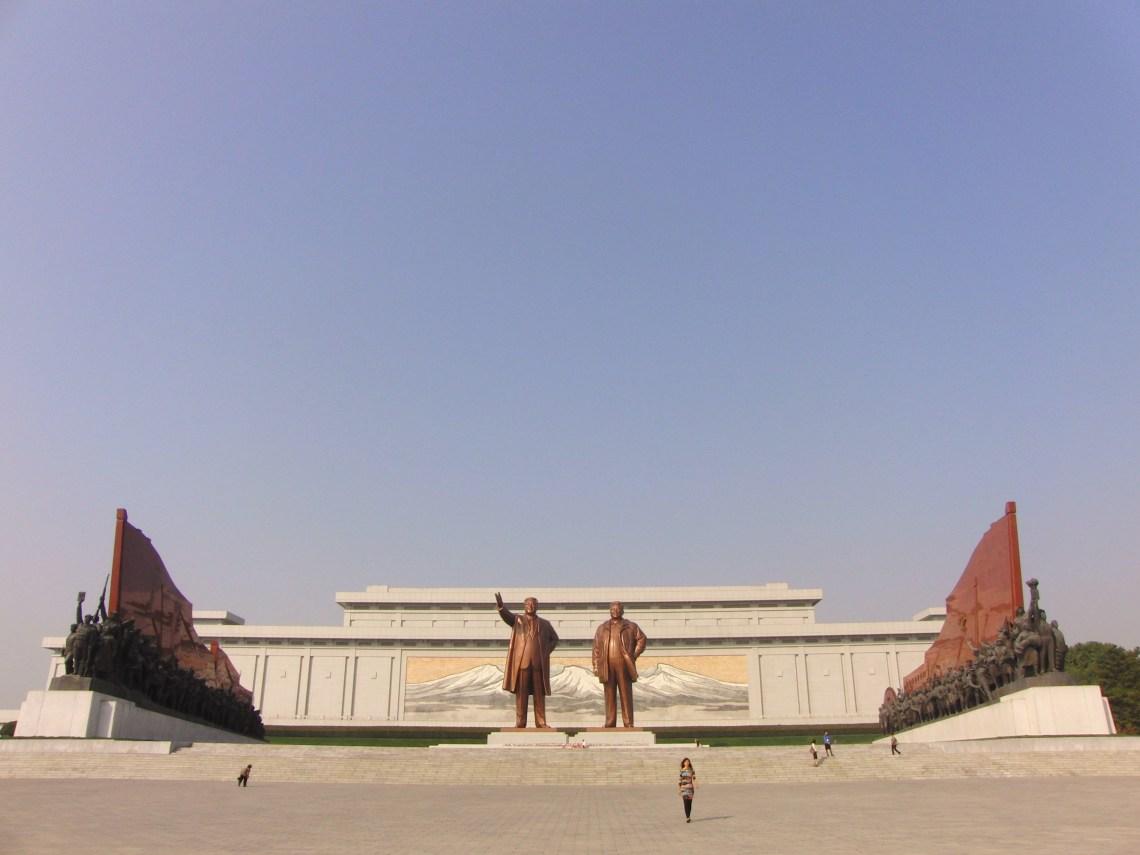 De twee vorige Grote Leiders in Noord Korea