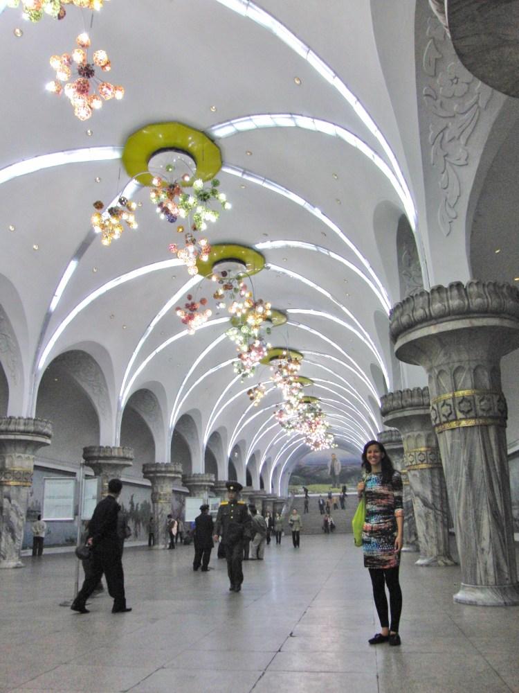 Metro station Pyonyang Noord Korea