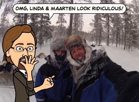Een foto uit de oude doos; -43 graden in Lapland