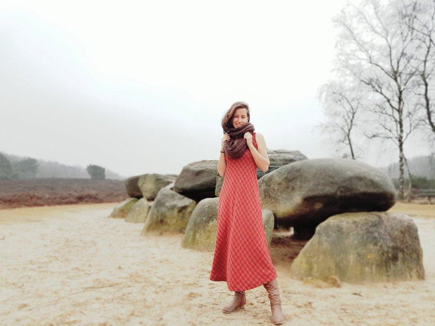 hunebed drenthe vintage jurk