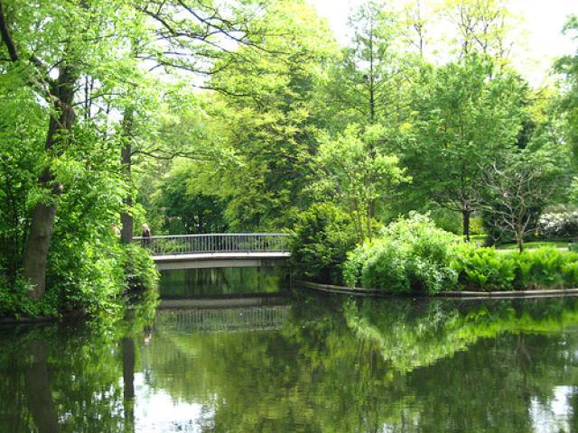 Fijn uitzicht bij de Cheesecake in Berlin Tiergarten park