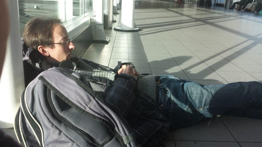 Slapen op Schiphol