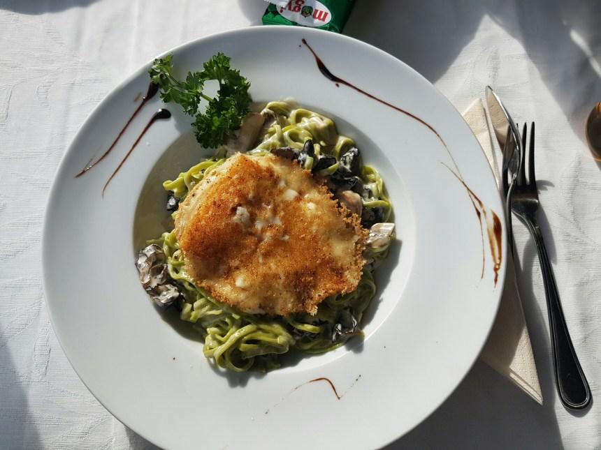 Geitenkaas met champignon pasta