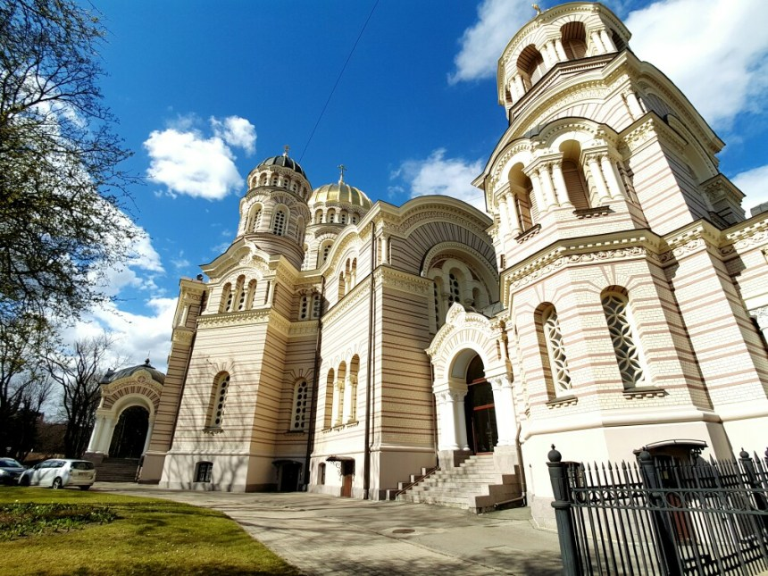 Russisch orthodoxe kerk in Riga