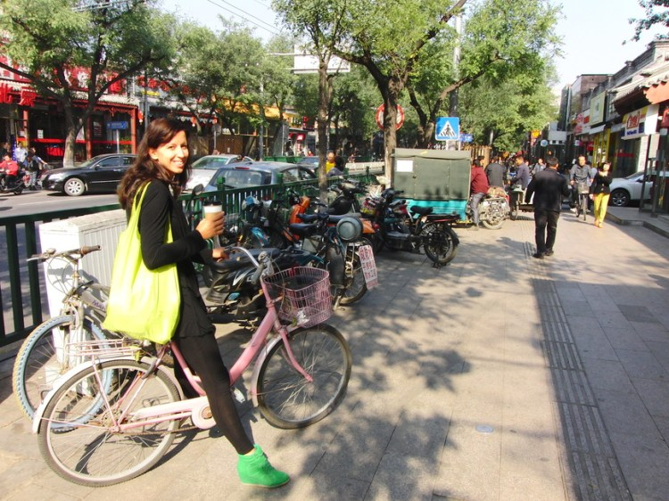 Mijn eigen roze fietsje Beijing China