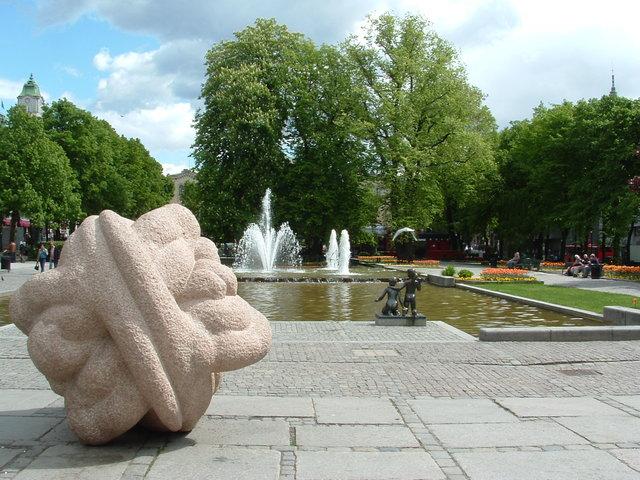 Groen en kunst Oslo Noorwegen