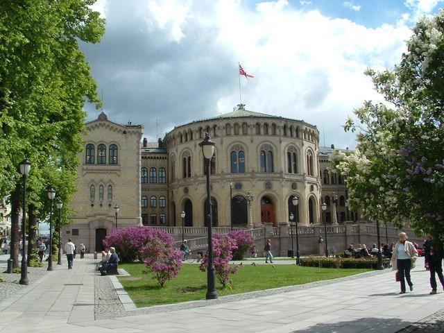 Parlementsgebouw Oslo Noorwegen