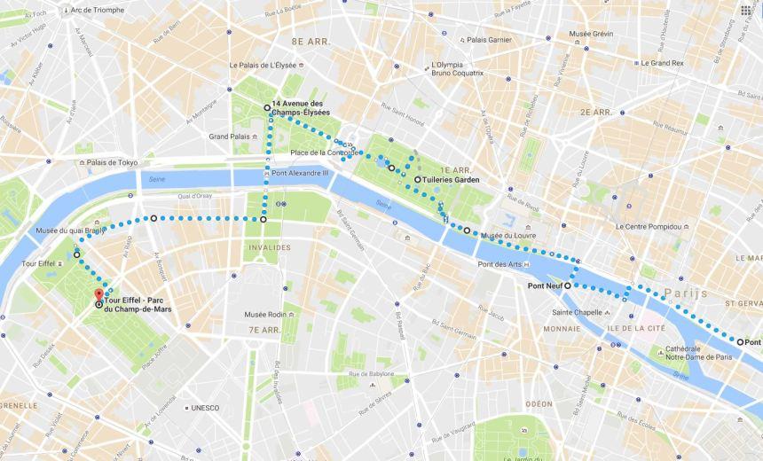 Parijs_4 wandelroute Frankrijk