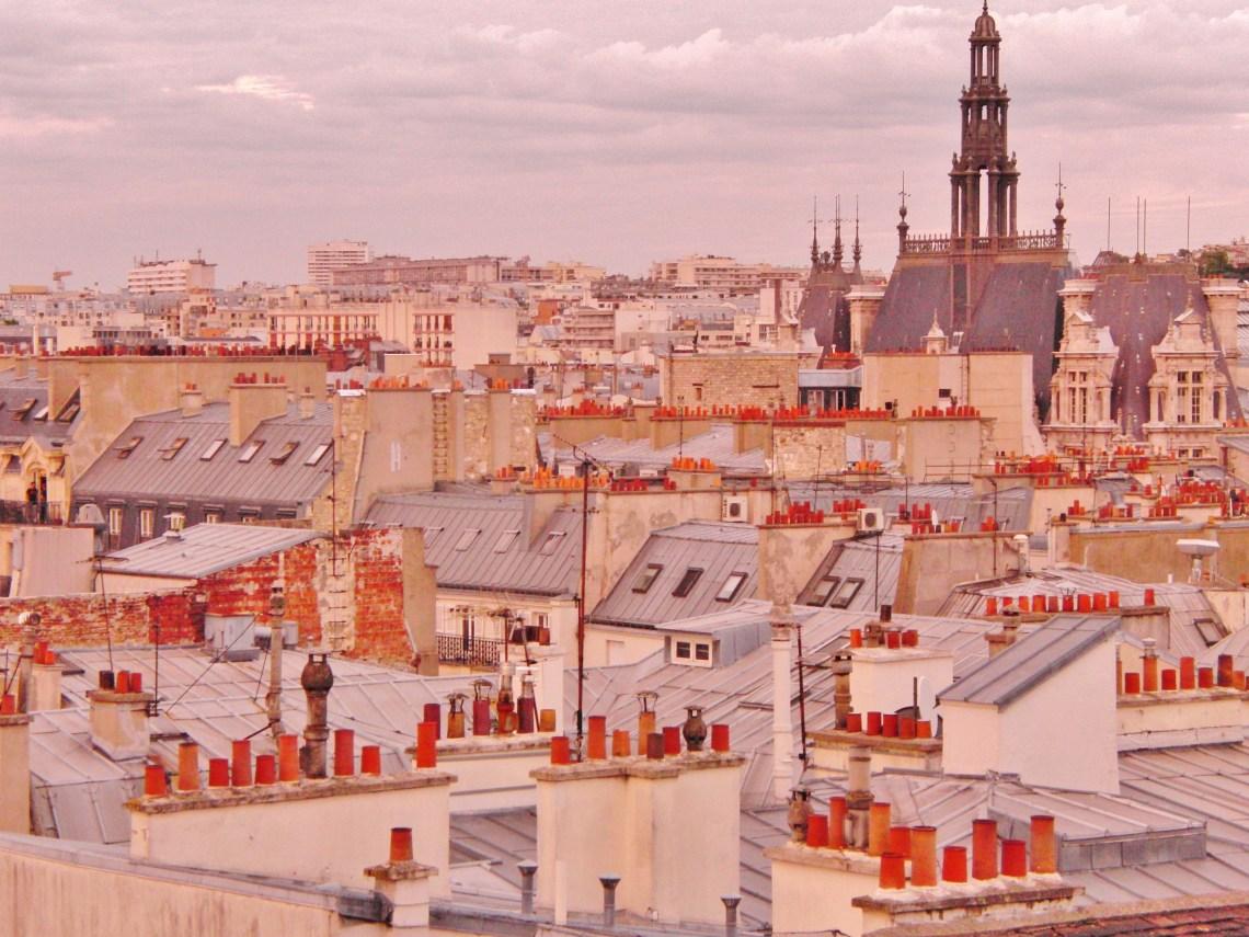 Rooftopbar - uitzicht over de daken van Parijs Frankrijk