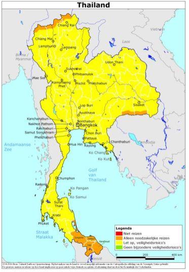 minbuza reisadvies Thailand