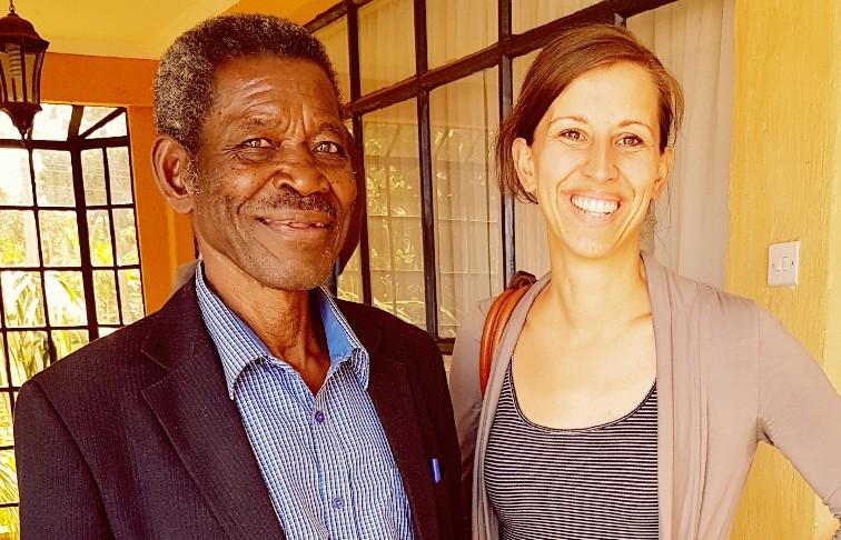 Morgan Freeman look-a-like bij de training