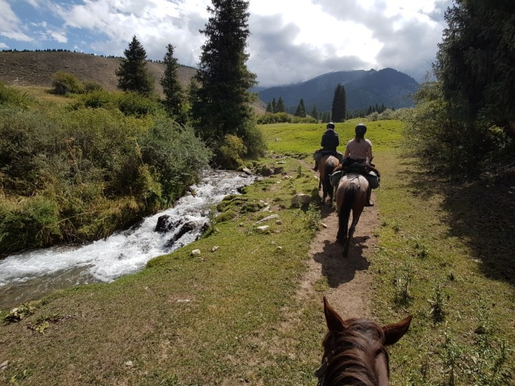 Kirgizie stroompje bergen