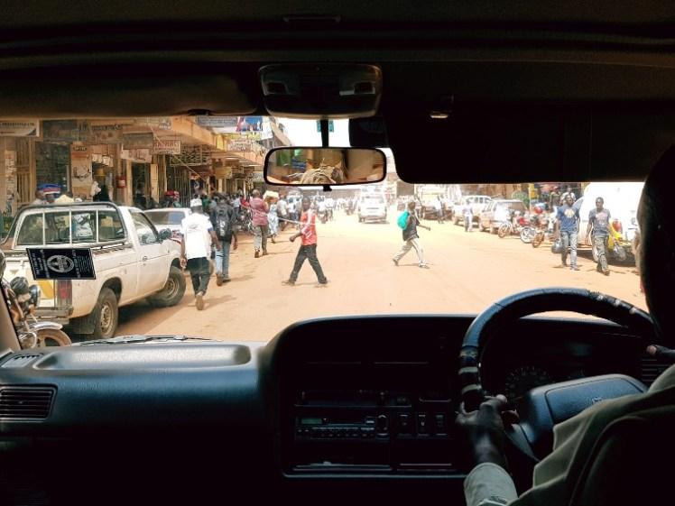 Verkeer Kampala Oeganda
