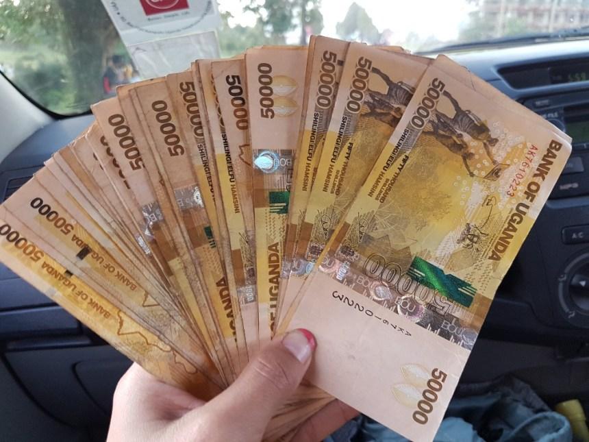 Geld pinnen Oeganda
