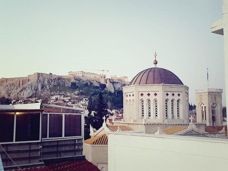 Uitzicht Athene Acropolis Griekenland