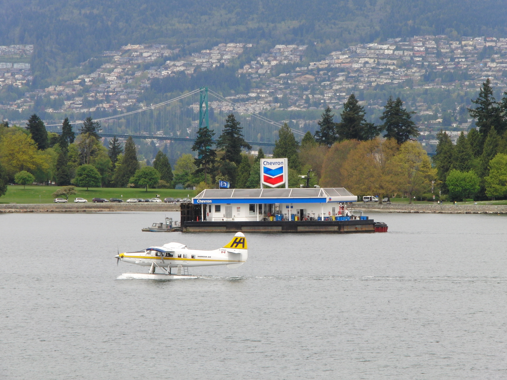 Vancouver Island Canada watervliegtuig tanken