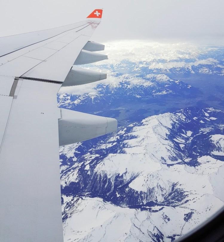 Swiss Air Alpen sneeuw